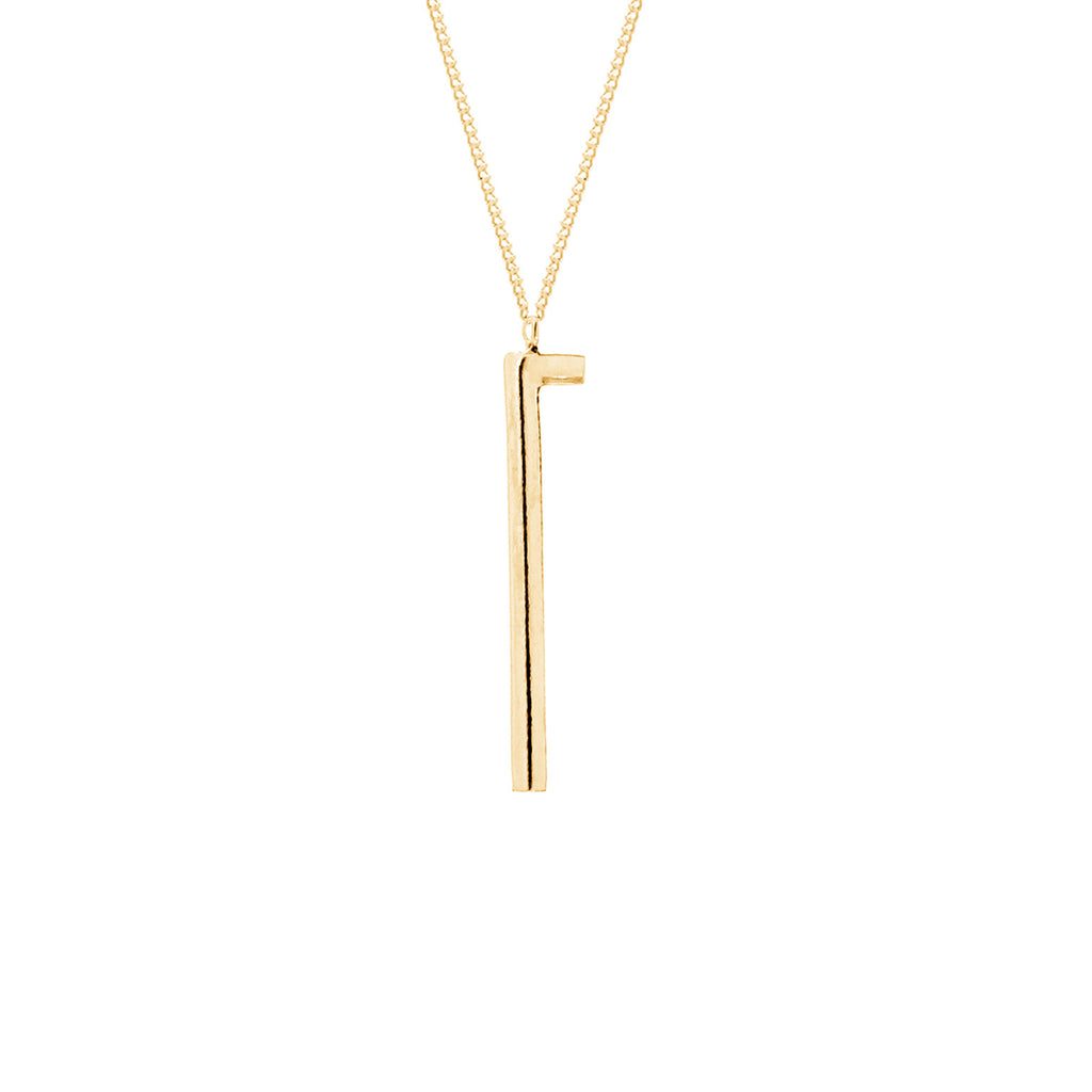 Mei-Li Rose minimal tube necklace