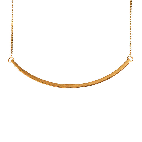 Simple gold necklace cuff