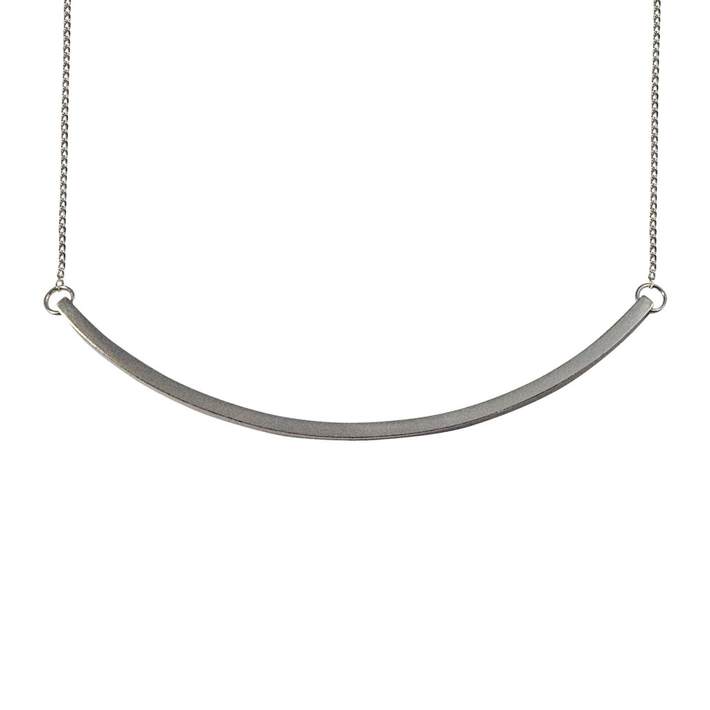 Simple minimal silver necklace cuff