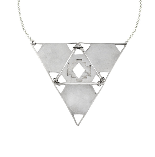 Mei-Li Rose Large Triangle Necklace