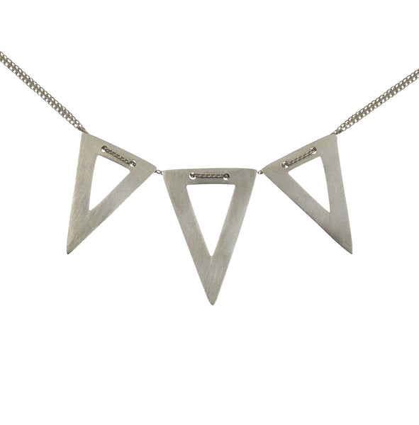 Mei-Li Rose Jewellery large triangle trio necklace