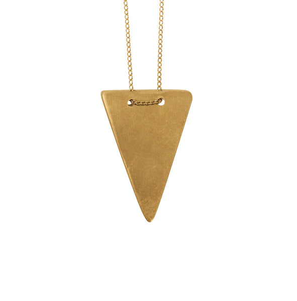 Simple geometric Triangle Necklace Gold