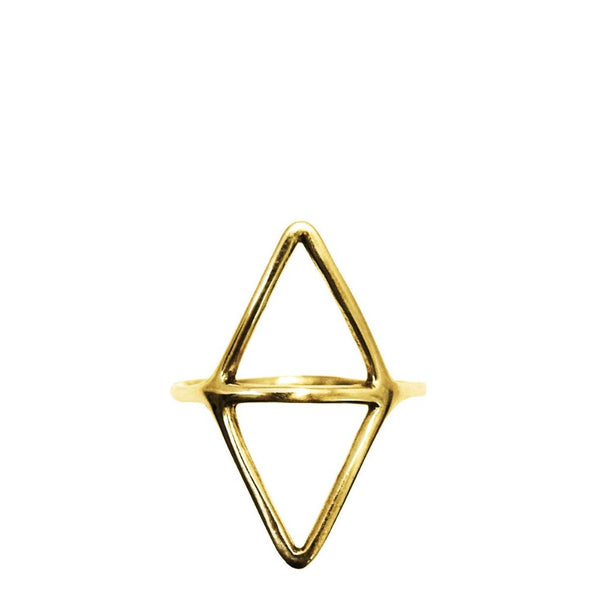 Simple gold geometric ring