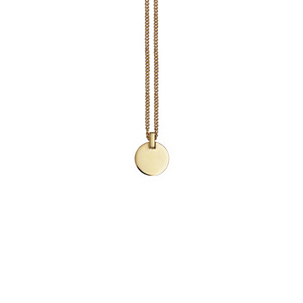Mei-Li Rose Solid gold circle necklace