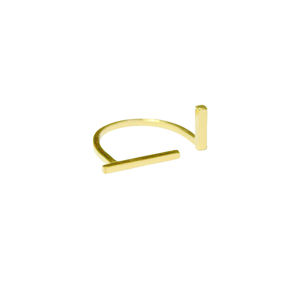 Mini Intersect Ring Gold