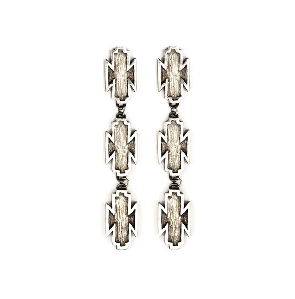 Mei-Li Rose jewellery trio drop earrings