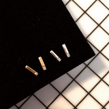 Diamond Bar Studs Gold