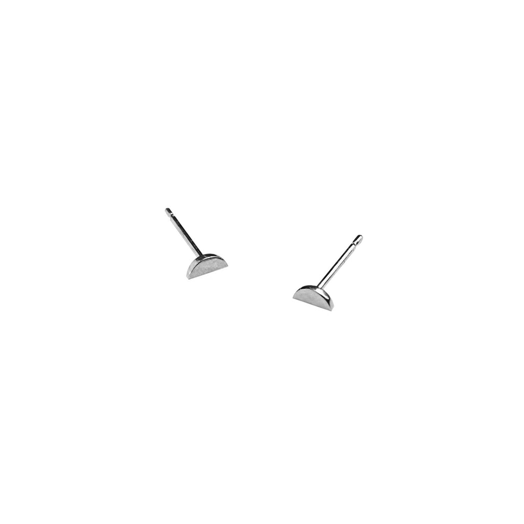 Modern silver stud earrings