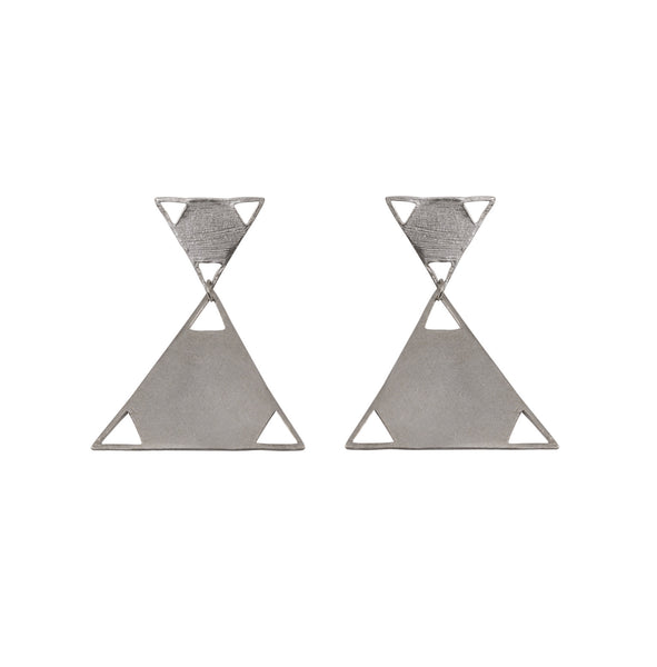 Mei-Li Rose Jewellery triangle drop earrings