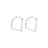 Mei-Li Rose simple hoop earrings