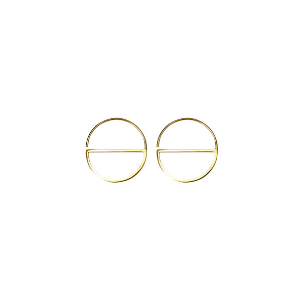 Small contemporary hoop earrings