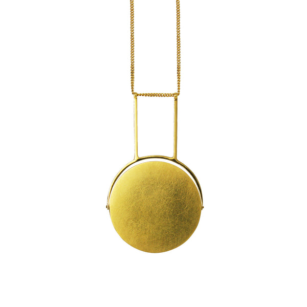 Two-Way Swivel Necklace Gold