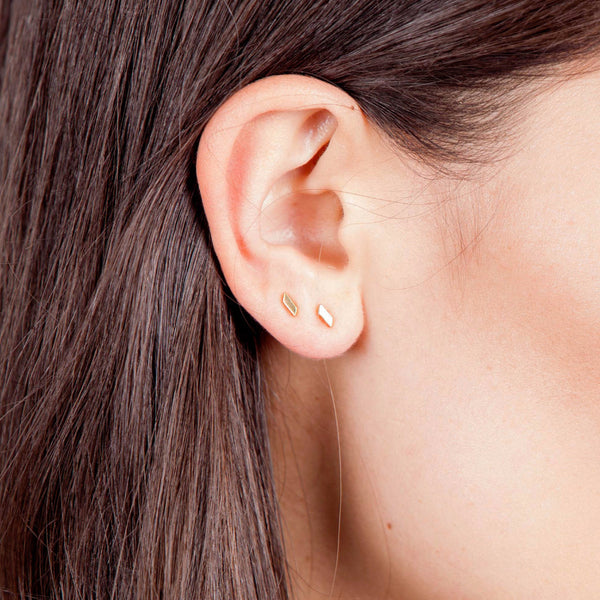 Mei-Li Rose gold small stud earrings