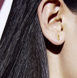 Minimal diamond earring stud