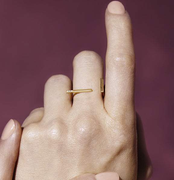 minimal diamond ring