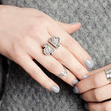 Mei-Li Rose Double Arrow Knuckle Ring