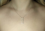 minimal jewellery rectangle necklace
