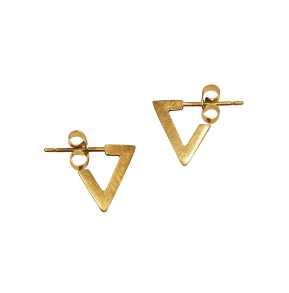 Simple gold earrings