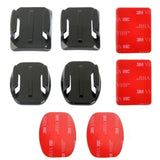 PULUZ 2 Curved Surface Mounts + 2 Flat Surface Mounts + 4 Adhesive Mount Stickers for GoPro HERO4 Session /4 /3+ /3 /2 /1 - Zasttra.com