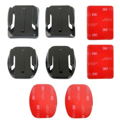 PULUZ 2 Curved Surface Mounts + 2 Flat Surface Mounts + 4 Adhesive Mount Stickers for GoPro HERO4 Session /4 /3+ /3 /2 /1