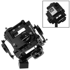 PULUZ 6 in 1 CNC Aluminum Alloy Housing Shell Protective Cage with Screw for GoPro HERO4 /3+(Black)