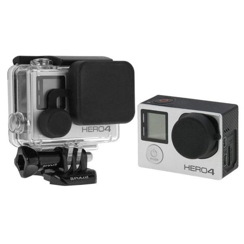 PULUZ Protective Camera Lens Cap + Housing Case Cover Set for GoPro HERO4 /3+ /3