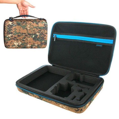 PULUZ Camouflage Pattern Waterproof Carrying and Travel Case for GoPro HERO4 Session /4 /3+ /3 /2 /1, Puluz U6000 and Accessories, Large Size: 32cm x 22cm x 7cm
