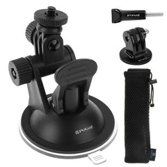 PULUZ Car Suction Cup Mount with Screw & Tripod Mount Adapter & Storage Bag for GoPro HERO4 Session /4 /3+ /3 /2 /1
