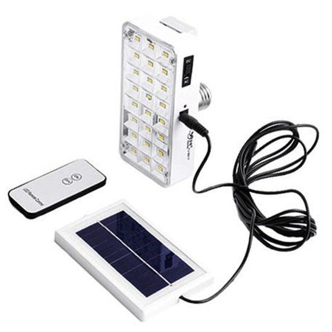Solar and Rechargeable LED Emergency Lamp with Remote control