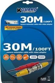 KGuard Camera Extension Cable 30 Metres-Compatible with all CCTV Cameras