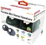 Promate Irock.3 Portable Mini Extendable Notebook and iPhone/iPodStereo Speakers Retail Box 1 Year Warranty