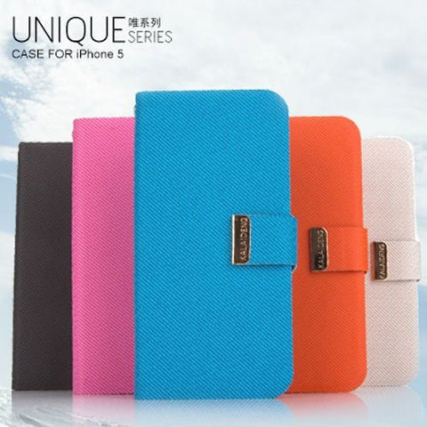 Kalaideng Unique Series PU Leather Stand Case For Apple iPhone 5 / 5S