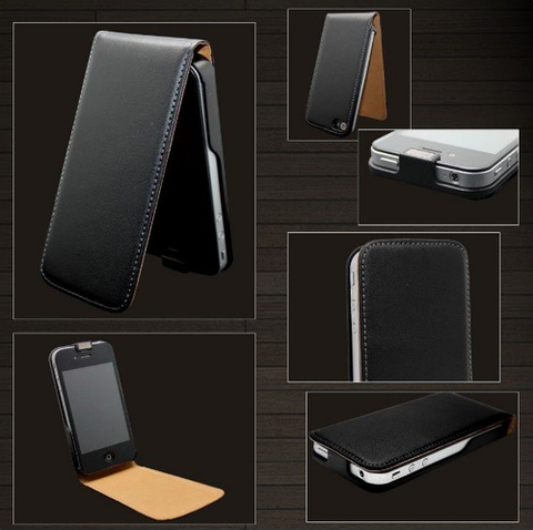 Flip PU Leather Case For iPhone 4 & 4S