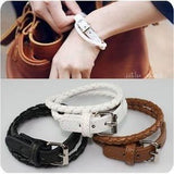 Fashion Belt Buckle Style Leather Bracelet