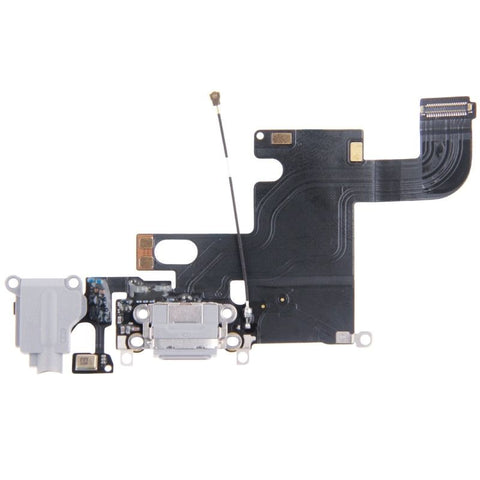iPartsBuy Charging Port Dock Connector Flex Cable for iPhone 6(Grey)