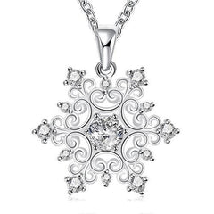 925 Sterling silver filled Symmetrical Filigree pendant with FREE chain included