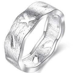 925 Sterling silver filled Designer ring with cut out detail