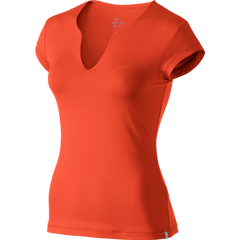 Nike Pure ladies short sleeve top team orange - Large