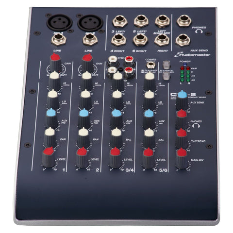 Studiomaster C2S-2 - 2 Channel Compact USB Mixer