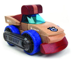 Police | Magnetic Wooden Cars | Edtoy