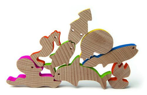 Sea World Wooden Blocks (28 pcs) | Edtoy