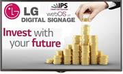 LG 32SM5KB Series 32 inch Full High Definition Edge-Lit LED Digital Signage IPS Monitor – Quad Core SoC Processor