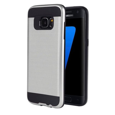 For Samsung Galaxy S7 Edge / G935 TPU + PC Combination Case (Silver)