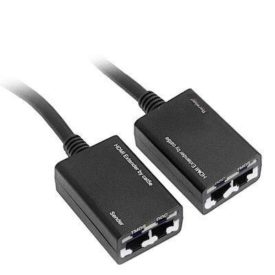 HDMI Extender by Cat5e / 6 LAN Cable 30M / 1080P(Black)