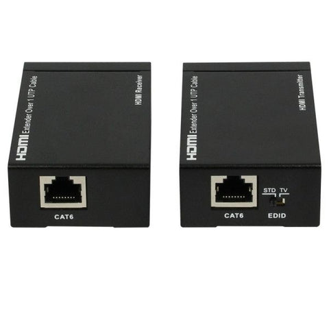 HDMI Extender over single 50m / 164ft UTP Cables with Dual IR Control(Black)