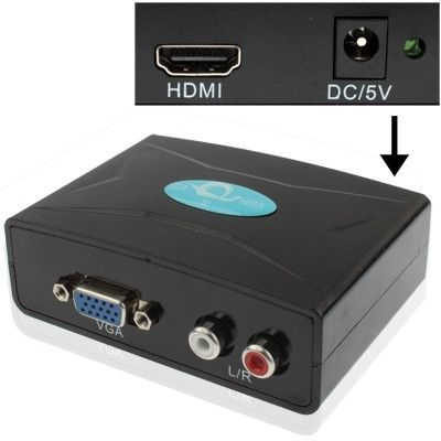 VGA to HDMI Converter with Audio (FY1316)(Black)