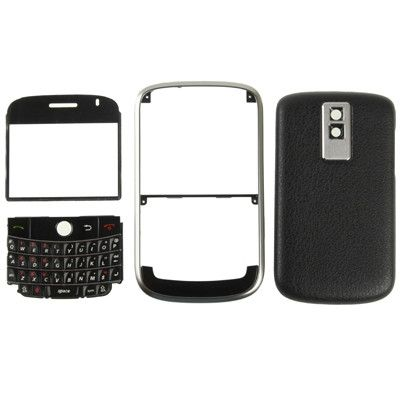 4 in 1 (Mirror + Keyboard + Orianal Frame + Battery Cover) for BlackBerry 9000(Black)