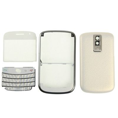 High Quality 4 in 1 (Mirror + Keyboard + Frame + Battery Cover) for BlackBerry 9000(White)