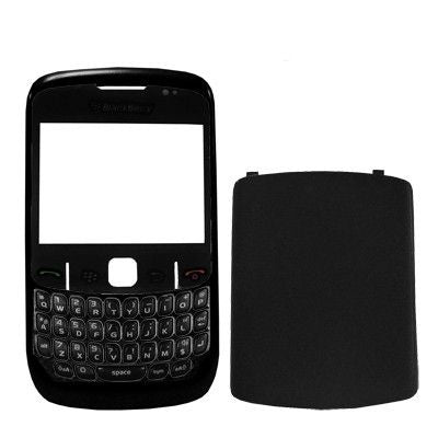4 in 1 (Mirror + Keyboard + Frame + Battery Cover) for BlackBerry 8520(Black)