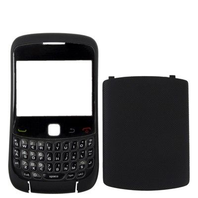 4 in 1 (Mirror + Keyboard + Frame + Battery Cover) for BlackBerry 9300,(Black)